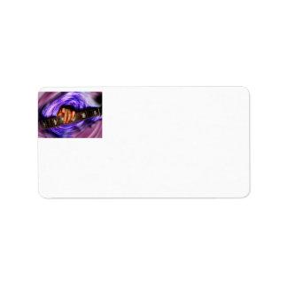 Purple Vortex Guitar Grip Label