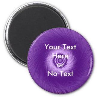Purple Vortex Line 2 Inch Round Magnet