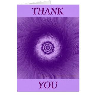 Purple Vortex Line Greeting Card