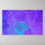 Purple Vortex Maze Print