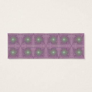 Purple vortex mini business card