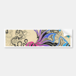 Purple Vortex on Capuccino Surface Bumper Sticker