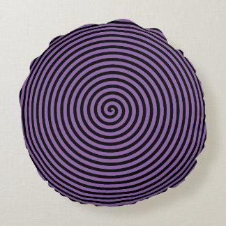 Purple Vortex Round Pillow