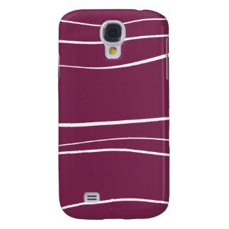 Purple w- Brush Strokes Samsung Galaxy S4 Cover