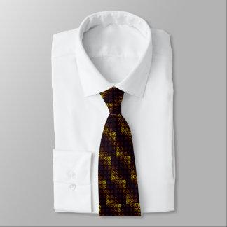 Purple w/ Yellow Waffle Weave Tie