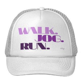 PURPLE WALK JOG RUN (font CHUNKY) Trucker Hat