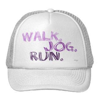 PURPLE WALK JOG RUN (font SCRIBBLE) Trucker Hat
