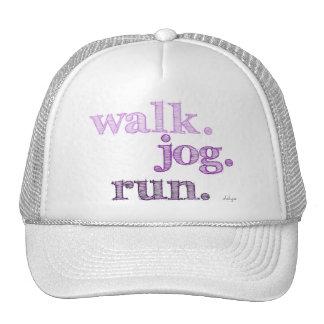 PURPLE WALK JOG RUN (font SHADED) Trucker Hat