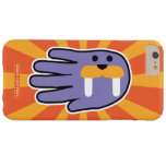 Hand shaped Purple Walrus Face Barely There iPhone 6 Plus Case