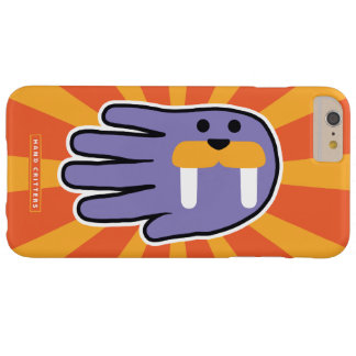 Purple Walrus Face Barely There iPhone 6 Plus Case