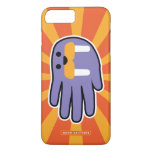 Hand shaped Purple Walrus Face iPhone 7 Plus Case