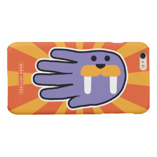 Purple Walrus Face Glossy iPhone 6 Plus Case