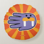 Hand shaped Purple Walrus Face Round Pillow