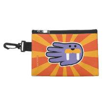 Hand shaped Purple Walrus Tusks Accessory Bag
