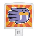 Hand shaped Purple Walrus Tusks Nite Light