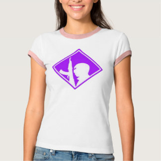 Purple War on Terror Symbol Airbrush Art T-Shirt