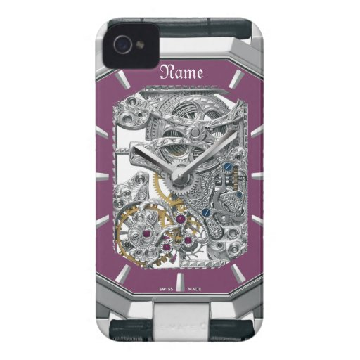 Purple Watch iphone4 Barely-there Case iPhone 4 Cover