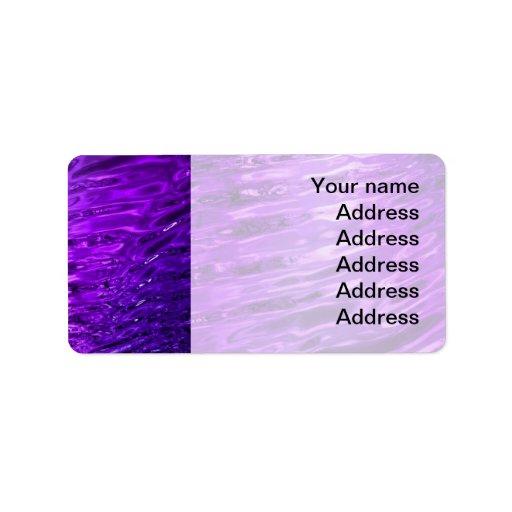 Purple Water Address Label