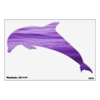 Purple Water Dolphin Wall Decal