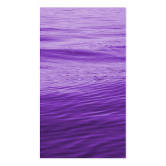 Purple Water Double-Sided Standard Business Cards (Pack Of 100)