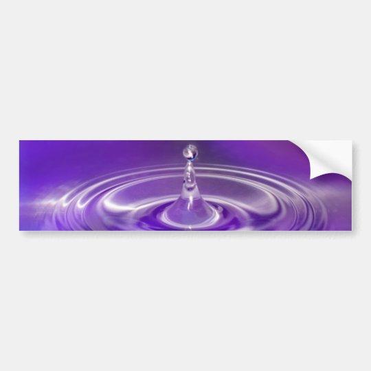 Purple Water Drop Bumper Sticker
