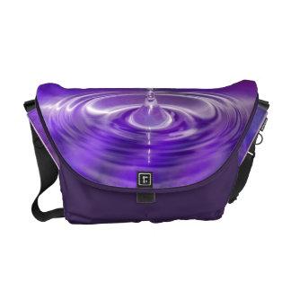 Purple Water Drop Courier Bag