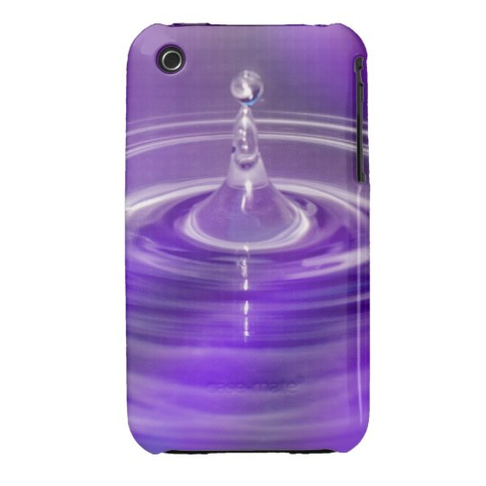 Purple Water Drop iPhone 3 Cover