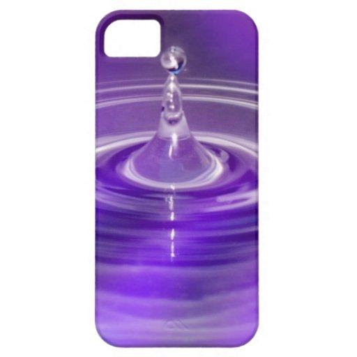 Purple Water Drop iPhone SE/5/5s Case