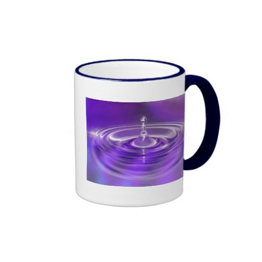 Purple Water Drop Mug