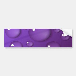 Purple Water Drop Pattern Bumper Sticker