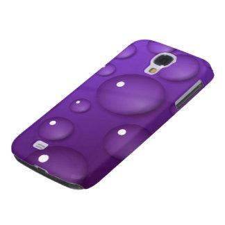 Purple Water Drop Pattern Galaxy S4 Case