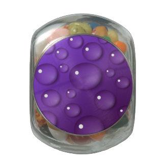 Purple Water Drop Pattern Jelly Belly Candy Jar