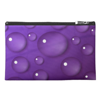 Purple Water Drop Pattern Travel Accessory Bag