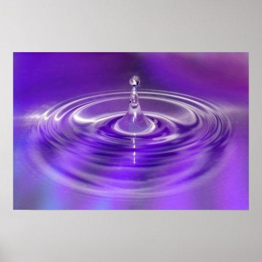 Purple Water Drop Poster