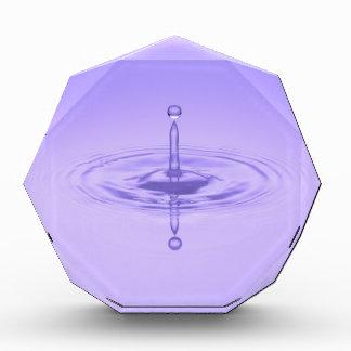 Purple Water Drop Reflection Limitless Ocean Love Award