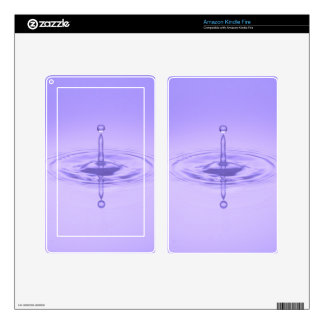 Purple Water Drop Reflection Limitless Ocean Love Decal For Kindle Fire