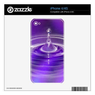 Purple Water Drop Skins For The iPhone 4