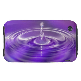 Purple Water Drop Tough iPhone 3 Case