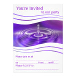 Purple Water Droplet Cards