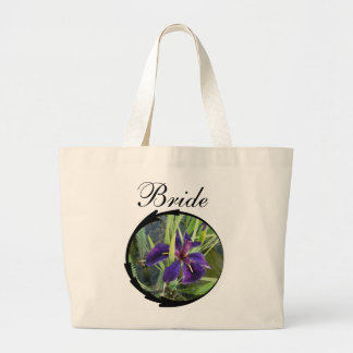 Purple Water Iris Bride Canvas Bags