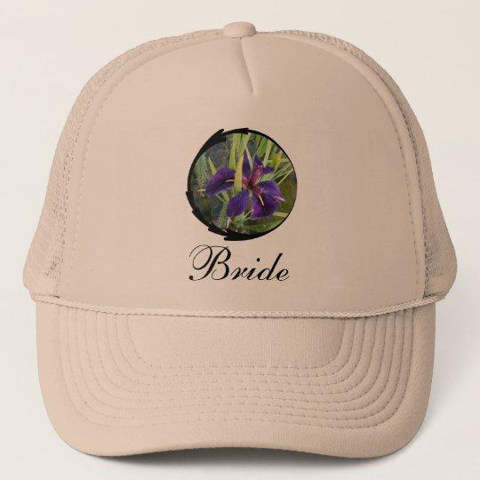 Purple Water Iris Bride Trucker Hat