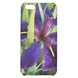 Purple Water Iris Cover For iPhone 5C