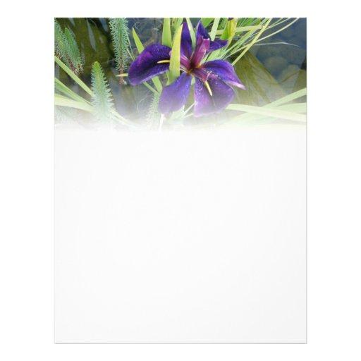 Purple Water Iris Letterhead Design