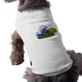 Purple Water Lilies in Sunshine Doggie Tee Shirt