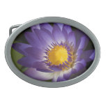 Purple Water Lilly Oval Belt Buckles