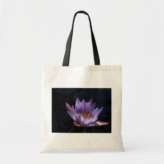 Purple Water Lily Canvas Bag
