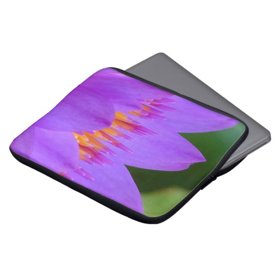 Purple Water Lily Flower Blossom Laptop Sleeve