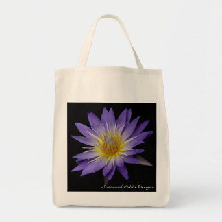 Purple Water Lily Grocery Tote Grocery Tote Bag