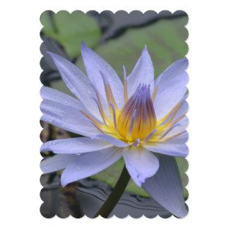 Purple Water Lily 5x7 Paper Invitation Card