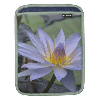 Purple Water Lily Sleeves For iPads